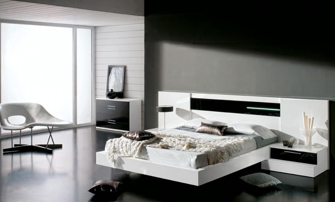 Una habitaci n elegante en blanco y negro a decorar mi casa for Dormitorio para padres en blanco y negro