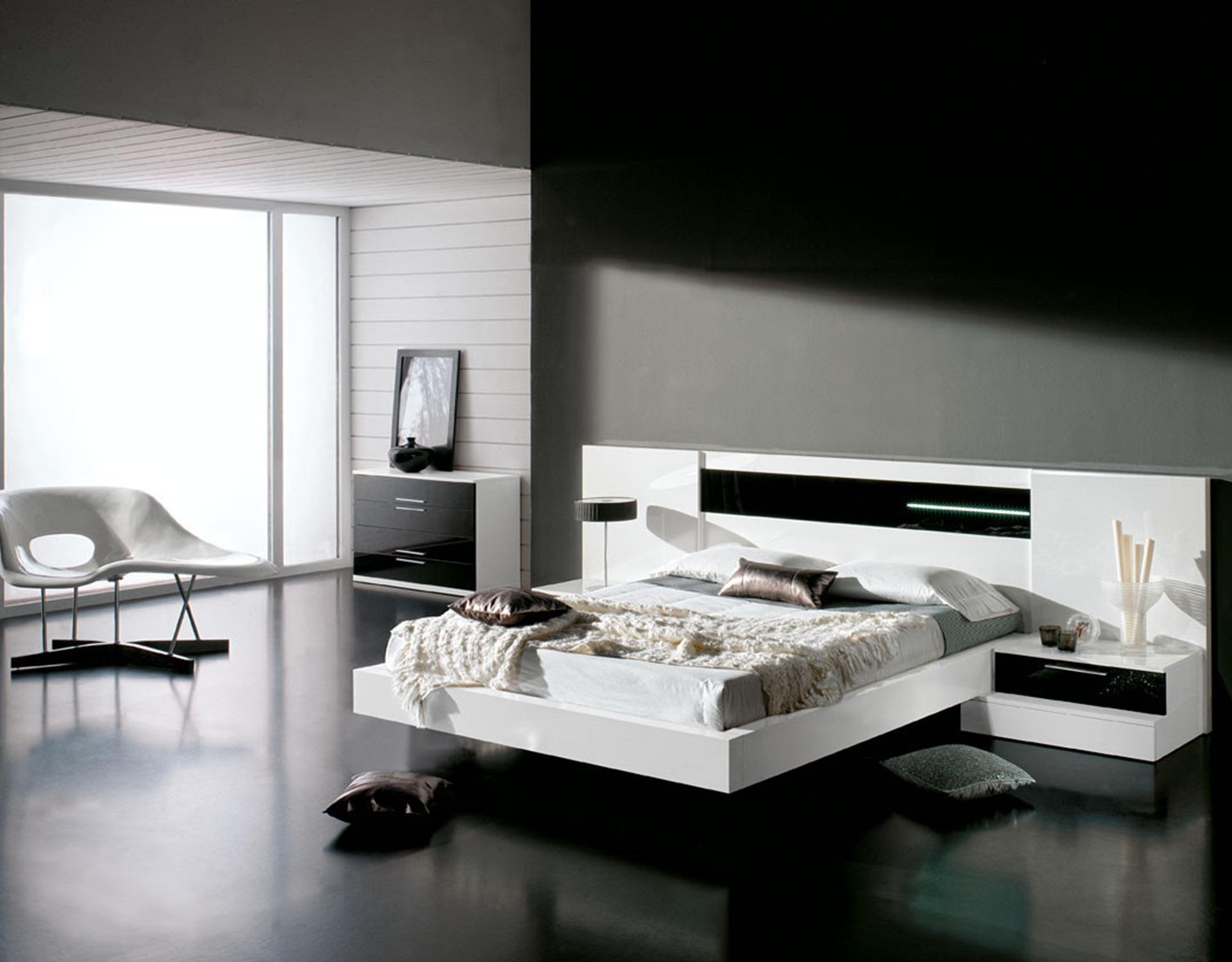 Una habitaci n elegante en blanco y negro a decorar mi casa - Dormitorios blanco y negro ...