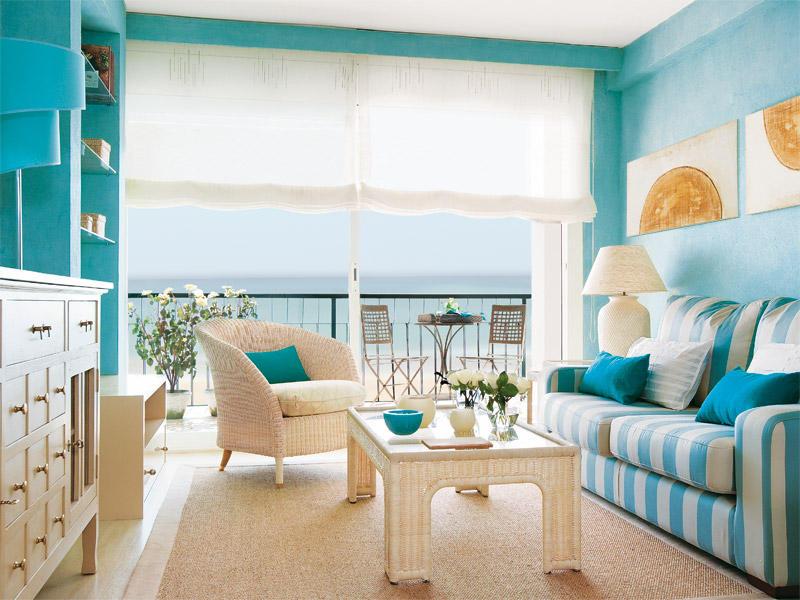 utiliza colores claros o neutros para las paredes y el mobiliario como azules blancos o verdes en el saln puedes usar un color algo ms atrevido a alguna